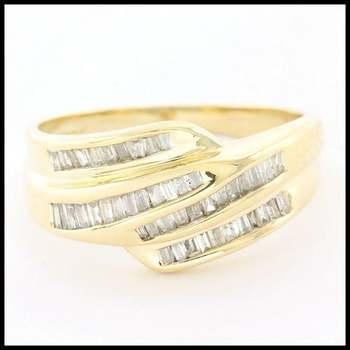 0.40ctw Genuine Diamond Solid 14k Yellow Gold Ring sz 7