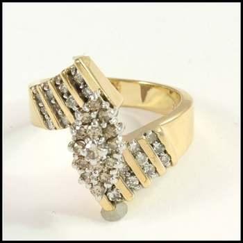 0.50ctw Genuine Diamond 10k Yellow Gold Ring Size 6 1/2