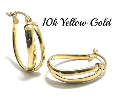 10k Real Yellow Gold (Not Plated) Earrings