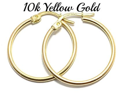 10k Real Yellow Gold (Not Plated) Hoop Earrings