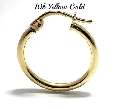 10k Real Yellow Gold (Not Plated) Hoop Single Earring