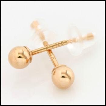 10k Rose Gold, 3mm Ball Stud Earrings