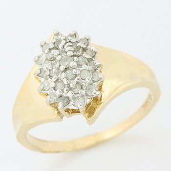 10k Yellow Gold 0.25ctw Genuine Diamond Ring Size 7