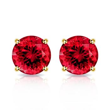 10k Yellow Gold, 0.30ctw Ruby Stud Earrings