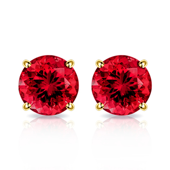 10k Yellow Gold, 0.30ctw Ruby Stud Earrings