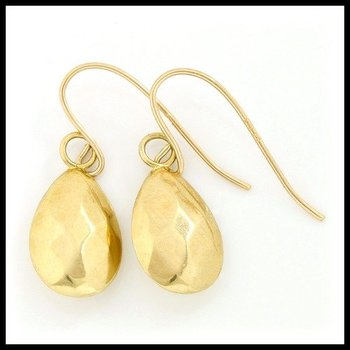 10k Yellow Gold 0.5 Grams Fish Hook Earrings
