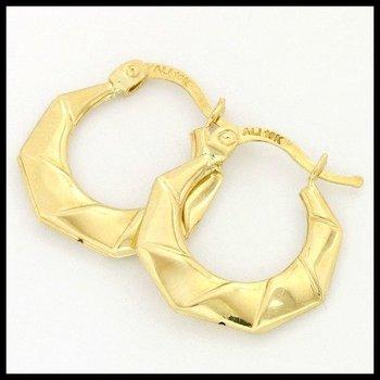 10k Yellow Gold 1.0 Grams Hoop Earrings