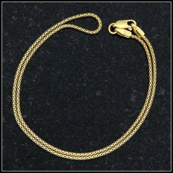 10k Yellow Gold, 10-inch Anklet Bracelet