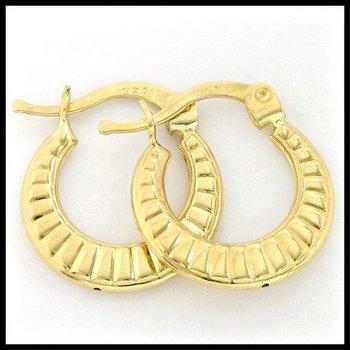 10k Yellow Gold 1.1 Grams Hoop Earrings