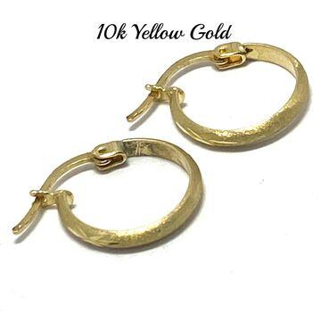 "10k Yellow Gold 1/2"" in Diameter Hoop Earrings Beautifully Dainty"