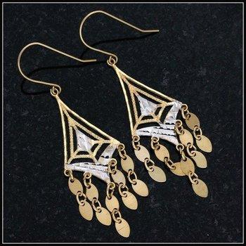 10k Yellow Gold, 1.3 Grams Drop Earrings
