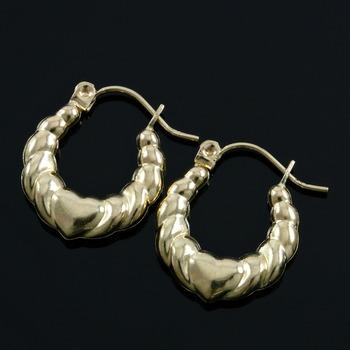 10k Yellow Gold, 1.3 Grams Hoop Earrings