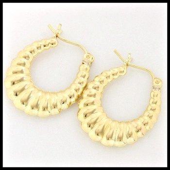 10k Yellow Gold 1.8 Grams Hoop Earrings