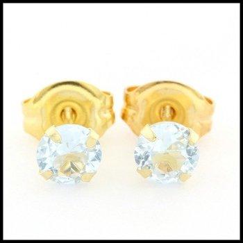 10k Yellow Gold, 4mm Light Alexandrite Stud Earrings