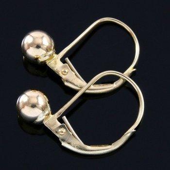 10k Yellow Gold, 5mm Ball Earrings