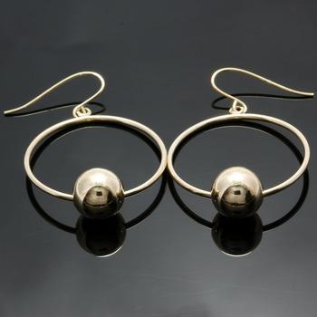 10k Yellow Gold, 8mm Ball Earrings