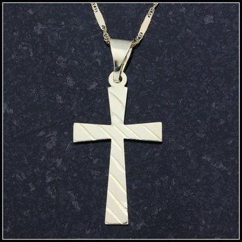 10k Yellow Gold Cross Necklace