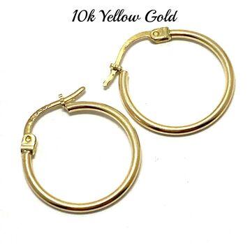 "10k Yellow Gold Hoop Earrings 3/4"" in Diameter Beautifully Dainty"