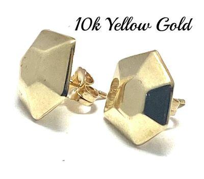 10k  Yellow Gold ) Stud Earrings