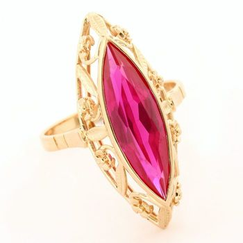 14k Rose Gold 7.50ct Genuine Tourmaline Ring Size 10