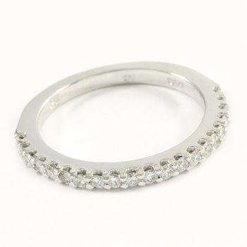 14k White Gold, 0.30ctw Genuine Diamond Ring Size 6.25