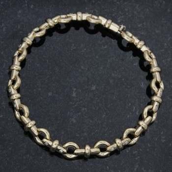 14k Yellow Gold, 0.35ctw Genuine Diamond Bracelet