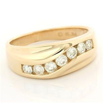 14k Yellow Gold, 0.54ctw Diamond Ring Size 8.5