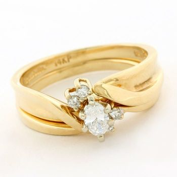 14kt Yellow Gold, 0.33ctw Diamond Ring Size 6.5