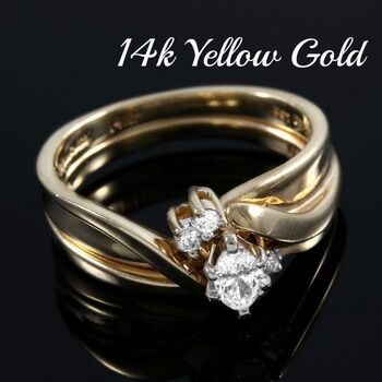 14kt Yellow Gold, 0.33ctw Natural Diamond Ring Size 6.5