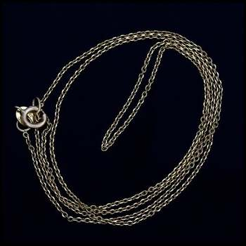 """18"""" Solid 10k Yellow Gold Cable Chain"""