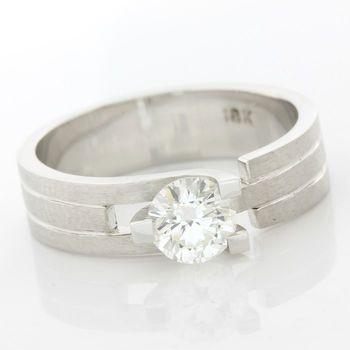 18k White Gold 0.66ctw Diamond  Ring Size 6 3/4
