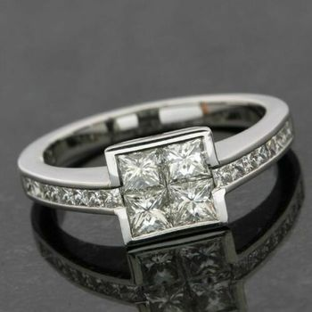 18kt/750 White Gold 1.16ctw Diamond Ring Size 7