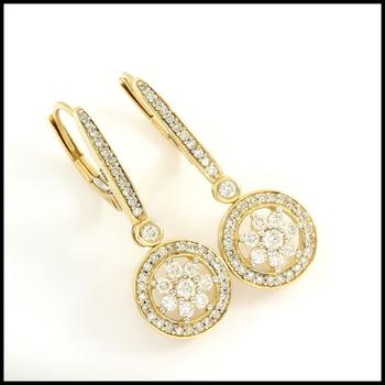 Solid 10k Yellow Gold, 0.50ctw Genuine Diamond Earrings