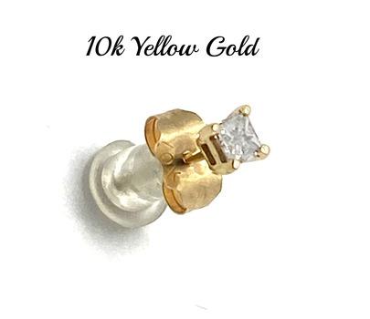 Solid 10k Yellow Gold 0.10ct Genuine Diamond Single Stud Earring