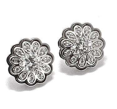 .925 Sterling Silver 1.15ctw Diamonique Earrings