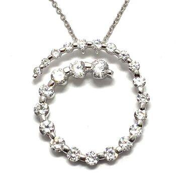 .925 Sterling Silver 1.50ctw Diamonique Necklace