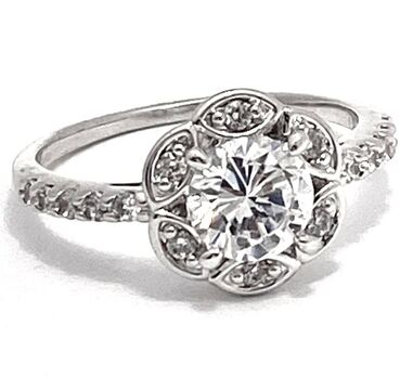 .925 Sterling Silver 2.00ctw Diamonique Engagement Ring Size 8