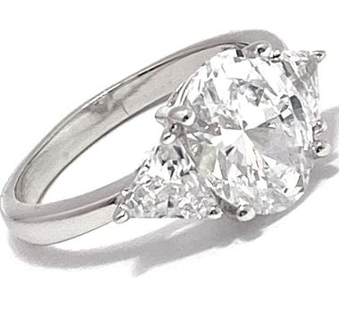 .925 Sterling Silver 6.75ctw Diamonique Engagement Ring Size 7