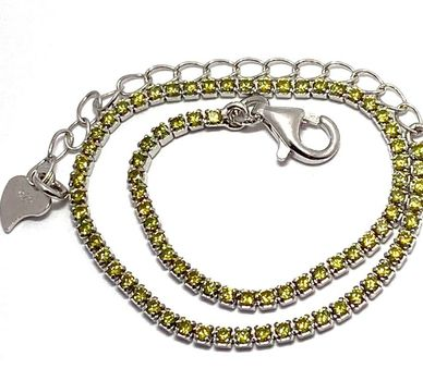 .925 Sterling Silver Golden Topaz Tennis Bracelet