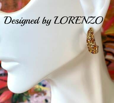 Authentic Lorenzo .925 Sterling Silver, 1.08ctw Citrine Earrings