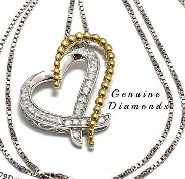 BUY NOW 0.25ctw Genuine Diamond Heart Necklace