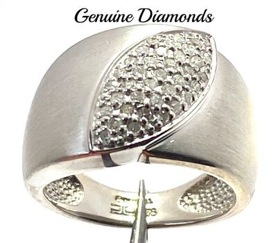 BUY NOW 0.25ctw Genuine Diamond Ring Size 6