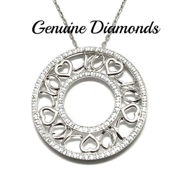 BUY NOW 0.45ctw Genuine Diamond Solid .925 Sterling Silver Necklace