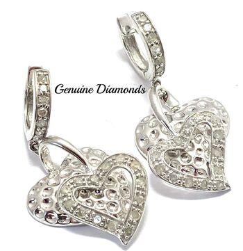BUY NOW 0.75ctw Genuine Diammond Earrings