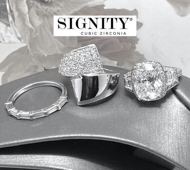 BUY NOW Attention Resellers! .925 Sterling Silver Lot of 3 Rings 13.2 Grams 13.50ctw SIGNITY STAR Cubic Zirconia