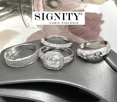 BUY NOW Attention Resellers! .925 Sterling Silver Lot of 3 Rings 13.2 Grams 6.75ctw SIGNITY STAR Cubic Zirconia