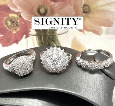 BUY NOW Attention Resellers! .925 Sterling Silver Lot of 3 Rings 13.2 Grams 8.50ctw SIGNITY STAR Cubic Zirconia