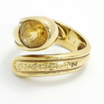 Estate Authentic Boucheron Solid 18k Yellow Gold Women Oval Citrine Ring sz 5.5 (3020)