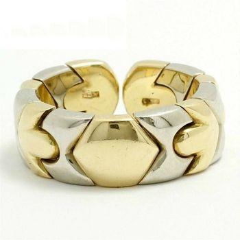 Estate Authentic BVLGARI Solid 18k Multi-Tone Gold Band Ring sz 5-6 (3027)