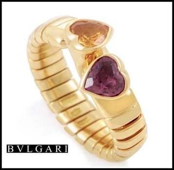 Estate Authentic Bvlgari Solid 18k Yellow Gold Citrine & Tourmaline Ring sz 6 3/4